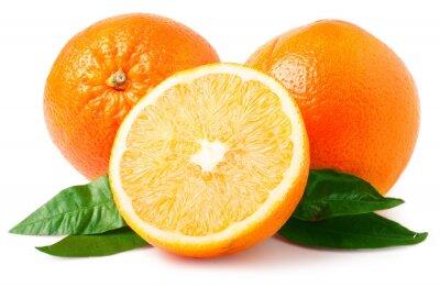 Nálepka Dva pomeranče izolovaných na bílém