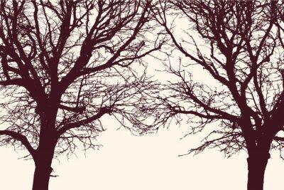 Nálepka dva stromy