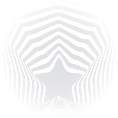 Nálepka É šedé pruhy optický klam výtvarná účinek.