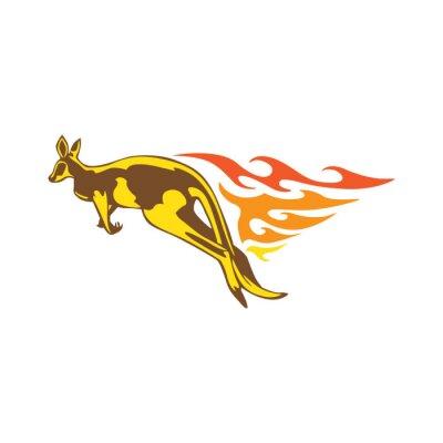 Nálepka Elegantní Kangaroo Flame