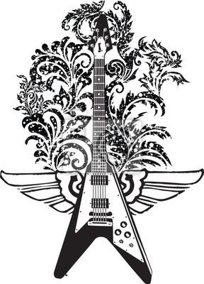 Elektrická kytara designu