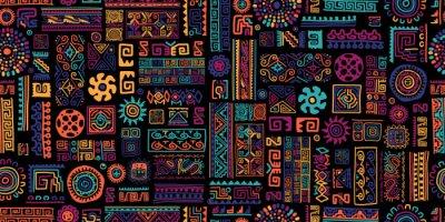 Nálepka Ethnic handmade ornament, seamless pattern
