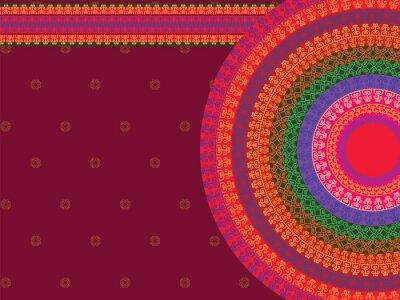 Nálepka Etnické a barevné Henna Mandala design, velmi propracovaný a snadno upravitelné