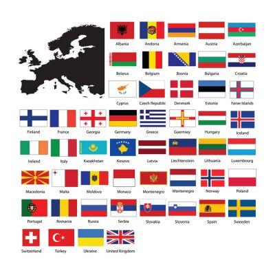 Nálepka Europe flags