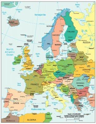 Nálepka Evropské politické spory