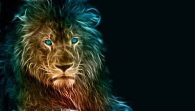 Nálepka Fantasy digitální umění lva