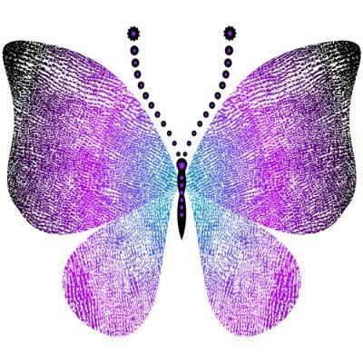 Nálepka Fantasy výstřední vintage butterfly