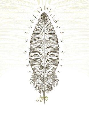 Nálepka Feather ornamental symbol