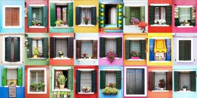 Nálepka Finestre colorate di Burano