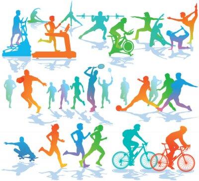 Nálepka Fitness a sporty