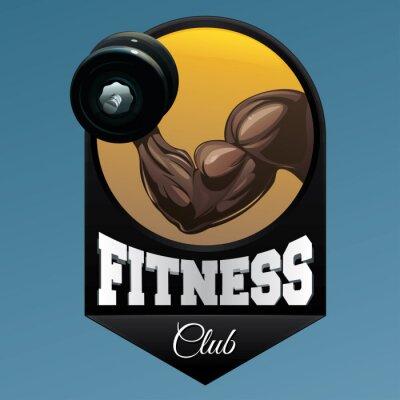 Nálepka Fitness club znak ilustrační