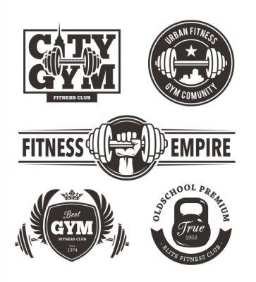 Nálepka Fitness Emblems Set