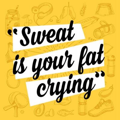 Nálepka Fitness motivace citát plakát.