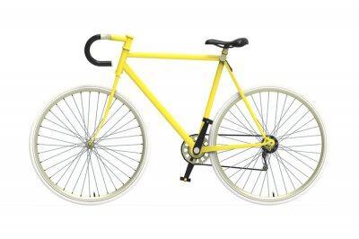 Nálepka Fixed gear city bicycle Color mixing Isolated background
