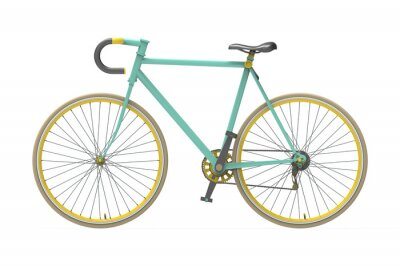 Nálepka Fixed gear městské kolo míchání barev ojedinělé pozadí