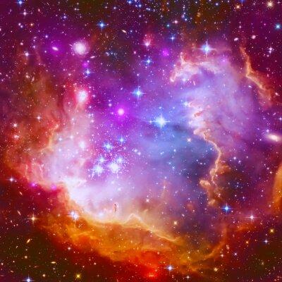 Nálepka Flaming hvězda Mlhovina