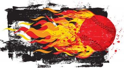 Nálepka Flaming Red Fastball