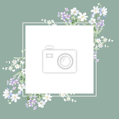 Floral poster, invite. Decorative greeting card or invitation design background