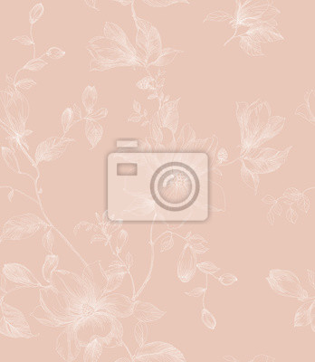 Floral seamless pattern can be used for wallpaper, website background, textile printing.