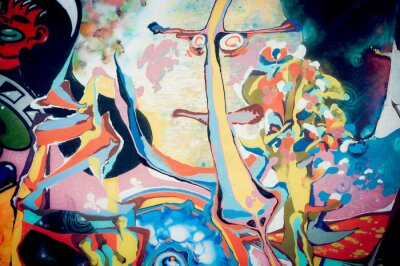 Nálepka Fond peinture abstraite