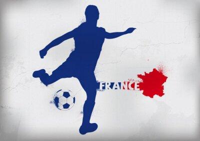 Nálepka Foot Francie Graffiti