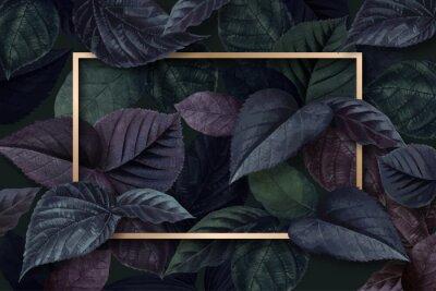 Nálepka Forest leaf frame