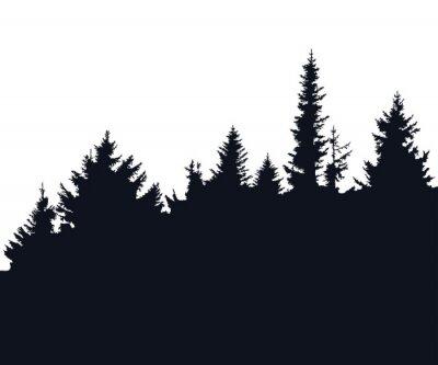 Nálepka Forest silueta
