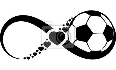 Nálepka Fotbal nebo fotbal láska Nekonečno