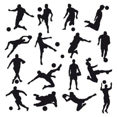 Nálepka Fotbal Siluety