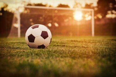 Nálepka Fotbal západ slunce