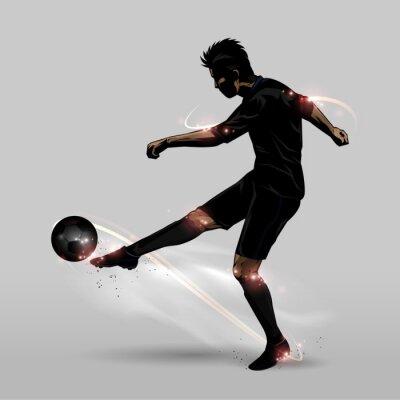 Nálepka fotbalista Halfvolej