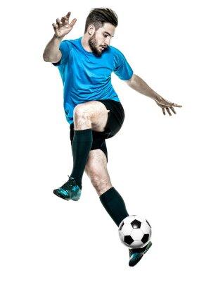 Nálepka Fotbalista Man izolované