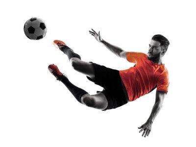 Nálepka Fotbalista Man samostatný silueta