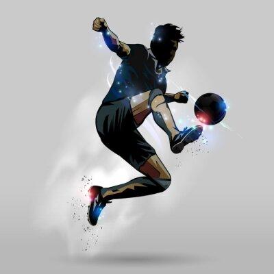 Nálepka Fotbalový jumping touch míč 02