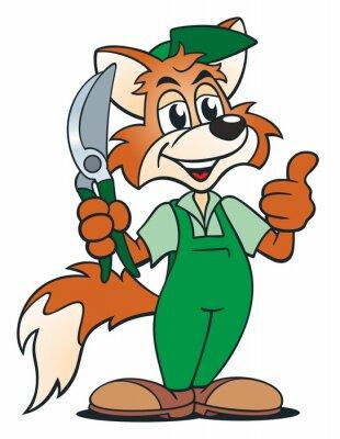 Nálepka Fox Gardener