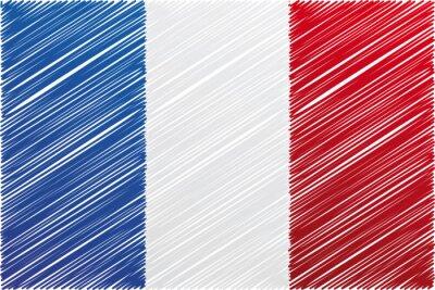 Francie vlajka, vektorové ilustrace