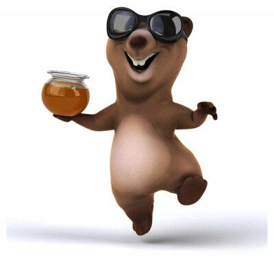 Nálepka Fun medvěd