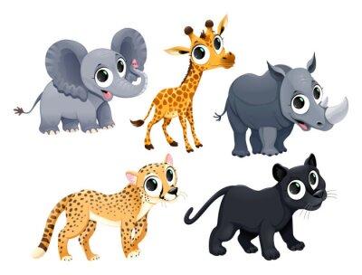 Nálepka Funny african animals