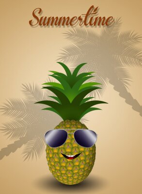 Nálepka Funny ananas pro létě
