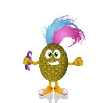 Nálepka Funny punková ananas