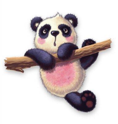 Nálepka furry panda