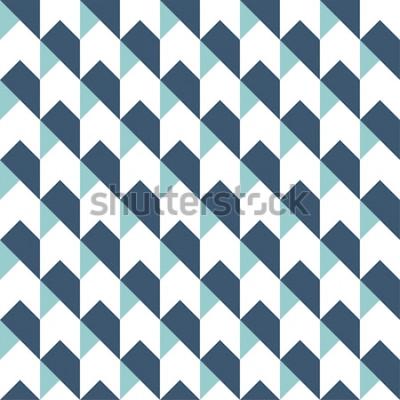 Nálepka Geometrická abstraktní vzor bezešvé pozadí, geometrické pozadí, vzor šipky, chevron vzor