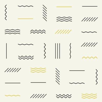 Nálepka Geometrické linie bezešvé vzor.