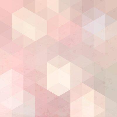 Nálepka Geometrické retro pozadí s grunge textury