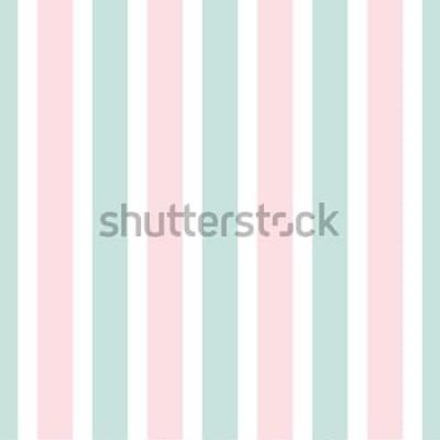 Nálepka Geometrický proužek bezešvé vzor růžové a zelené barvy. Slavnostní ilustrace. Svislá čára tapety. Elegantní obtékání pozadí.
