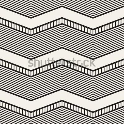 Nálepka Geometrický vzor bezešvé. Cik cak pruhy. Vektorové grafické textury