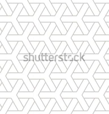 Nálepka Geometrický vzor bezešvé. Geometrický jednoduchý tisk s trojitými prvky. Vektorové opakující se texturu. Moderní bederní vzorník. Minimalistické opakující se pozadí.