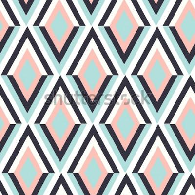 Nálepka geometrický vzor cik cak vektor. etnické bezešvé ornament. Abstraktní pozadí - barevné linky. Vektorové ilustrace.