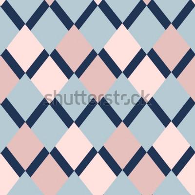 Nálepka geometrický vzor kosočtverců. geometrický vzor. etnické bezešvé ornament. Abstraktní pozadí - barevné linky. Vektorové ilustrace.
