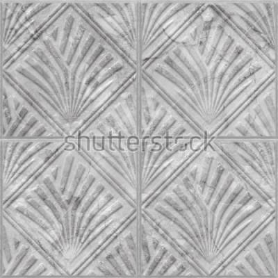 Nálepka Geometrický vzor na keramické a mramorové dlaždice čisté textury, 3d ilustrace
